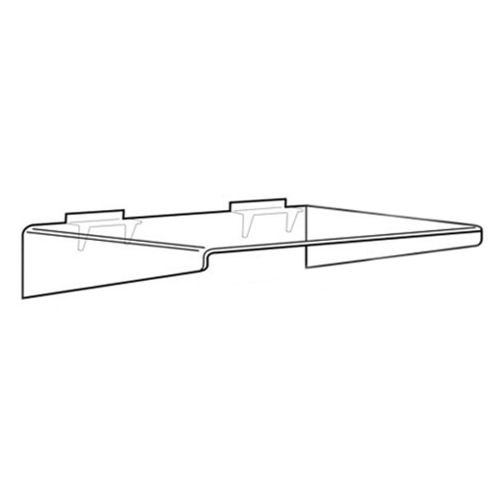 Slatwall Right Angled Shelf with Supports