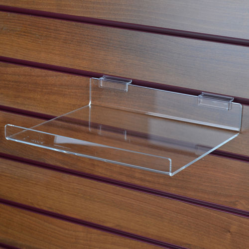 Slatwall Right Angled Shelf with Lip